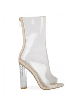 ESTHER OPEN TOE ANKLE BOOT - CLEAR 에스더 오픈토 앵클 부츠 - 클리어