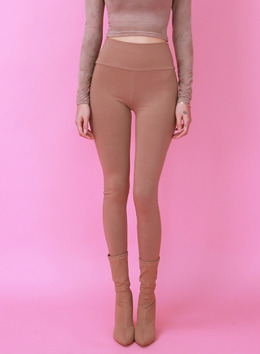 BBLD HIGH WAIST LEGGINGS - BEIGE BBLD 하이웨스트 레깅스 - 베이지