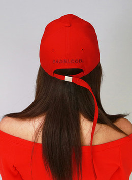 Extra Long Strap BADBLOOD BALLCAP - RED Extra Long Strap BADBLOOD 볼캡 - 레드