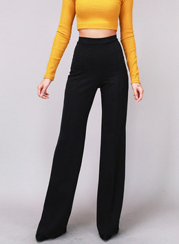 GEORGIA WIDE PANTS - BLACK