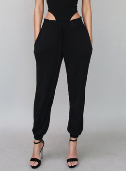 CHASER JOGGER TROUSERS - BLACK 체이서 조거 트라우져 - 블랙