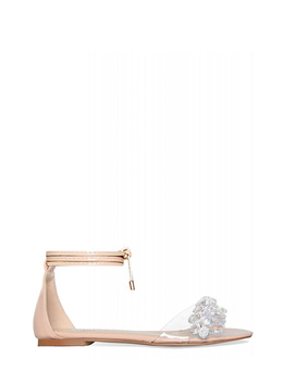 MARGARET LACE UP CLEAR SANDAL - NUDE 마가렛 레이스업 클리어 샌들 - 누드
