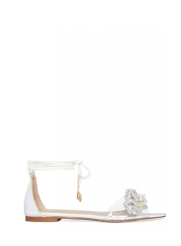 MARGARET LACE UP CLEAR SANDAL - WHITE 마가렛 레이스업 클리어 샌들 - 화이트