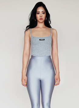 KIM 2WAY RIBBED TANK - GRAY 킴 2way 립 탱크 - 그레이