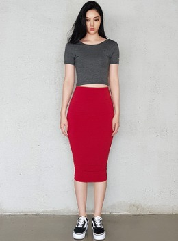 JENNER SCOOP NECK 1/2 CROPPED TOP - 5colors 제너 스쿱넥 1/2 크롭탑 - 5컬러