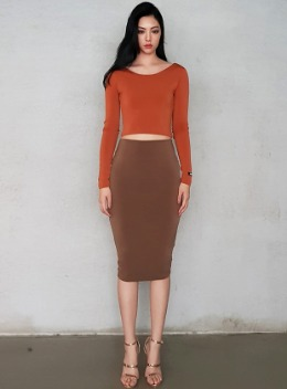 ZENIA DOUBLE LAYERED SCOOP NECK CROPPED TOP - 5colors 제니아 더블 레이어드 스쿱넥 크롭탑 - 5컬러