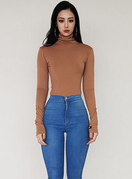 JENNER TURTLE NECK TEE - 5colors 제너 터틀넥 티 - 5컬러