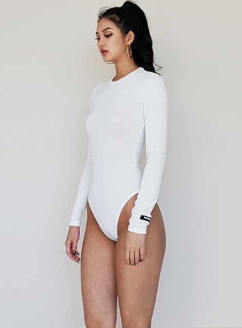 JENNER LONG SLEEVE BODYSUIT - CREAM 제너 바디수트 - 크림