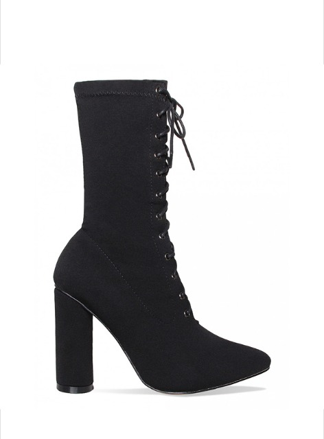 FILLMORE LACE-UP ANKLE BOOTS LYCRA - BLACK 필모어 레이스업 앵클 부츠 라이크라 - 블랙
