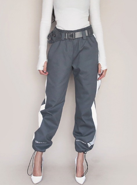 3M WORLDWIDE TWILL JOGGER TROUSERS with BELT - GRAY 3M 월드와이드 트윌 조거 트라우져 - 그레이