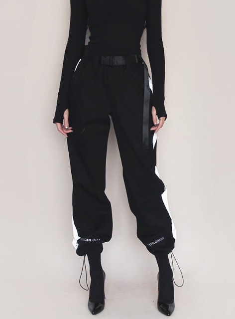3M WORLDWIDE TWILL JOGGER TROUSERS with BELT - BLACK 3M 월드와이드 트윌 조거 트라우져 - 블랙