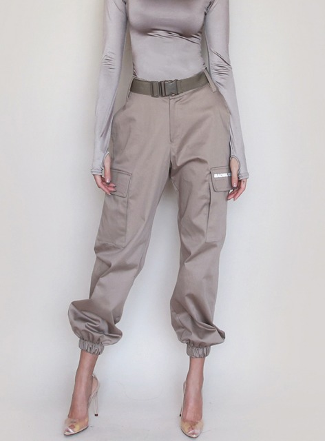 BR UTILITY CARGO TROUSERS - BEIGE BR 유틸리티 카고 트라우져 - 베이지