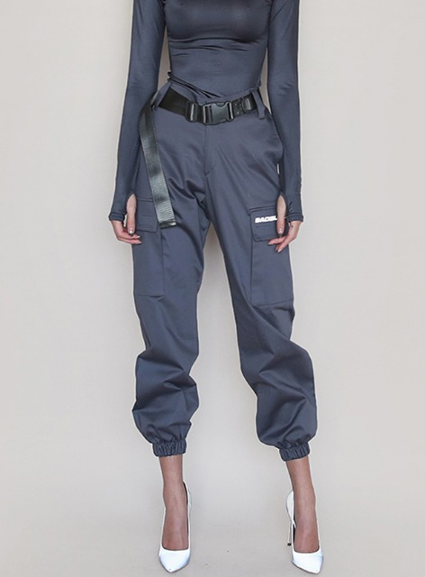 BR UTILITY CARGO TROUSERS - CHARCOAL BR 유틸리티 카고 트라우져 - 차콜
