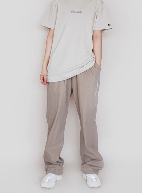ESSENTIAL TWILL JOGGER TROUSERS - SAND 에센셜 트윌 조거 트라우져 - 샌드